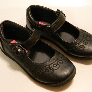 RACHEL SHOES Girl's Toddler MARY JANES Black Sz 10